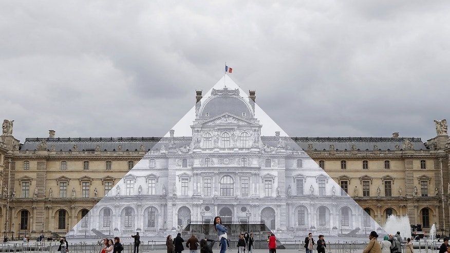 A true disappearing act in Paris, France.