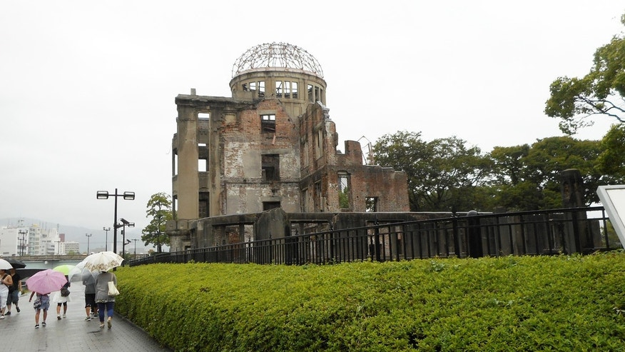 The Atomic Dome ruin, which serves as a memorial to those who were killed n the atomic bombing of Hiroshima on August 6, 1945, was designated as a UNESCO World Heritage Site in 1996.