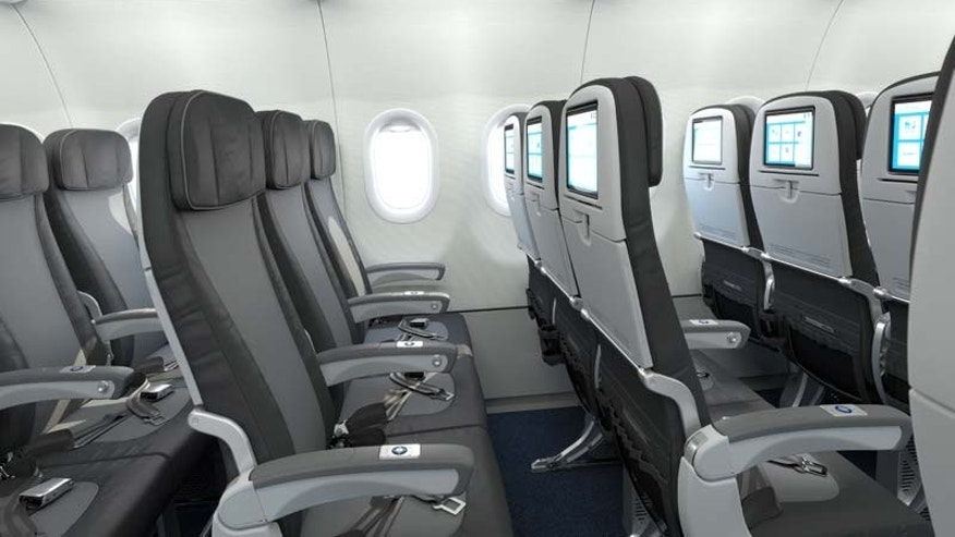 JetBlue economy seats are larger than the industry average with a wider pitch.