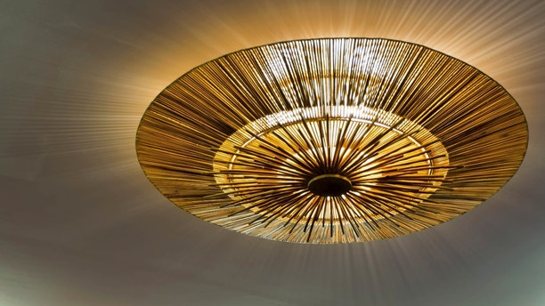 Lighting fixture on the ceiling, handmade lighting fixture
