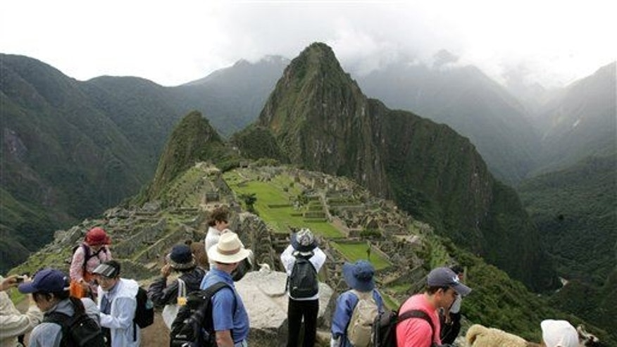 Tourists at Machu Picchu in Peru in 2008.