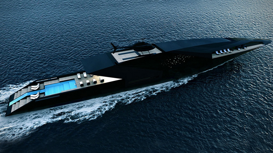 The Black Swan is a $10 million sleek superyacht concept.