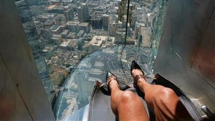 Los Angeles' U.S. Bank Tower opened a 1,000 foot tall glass slide last month. But is it dangerous?
