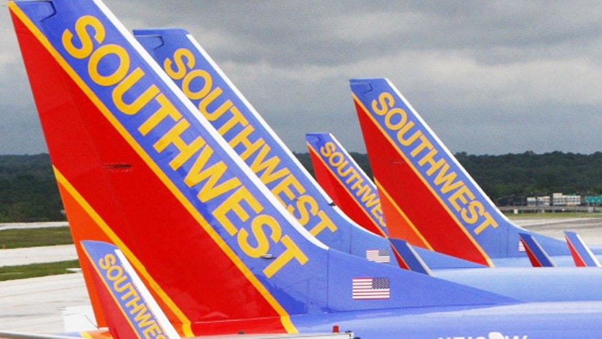 May 16, 2008: Southwest Airlines jets are seen parked at their gates at Baltimore Washington International Airport in Baltimore.
