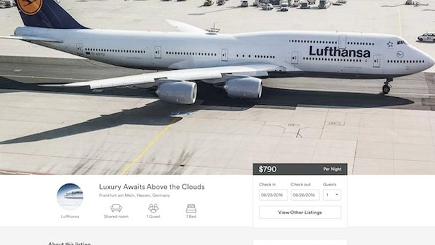 Fancy a flight-- or stay-- on a Lufthansa flight through rental site Airbnb?