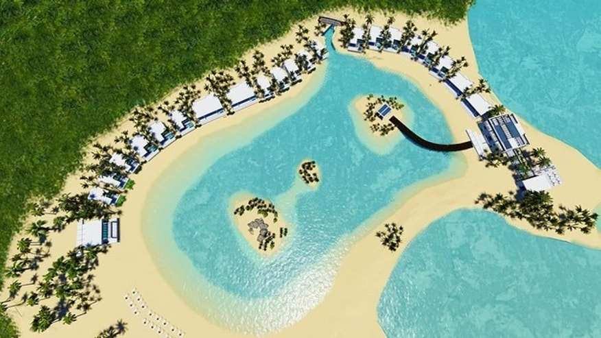 A rendering of the Lagoon Retreat at Great Stirrup Cay.