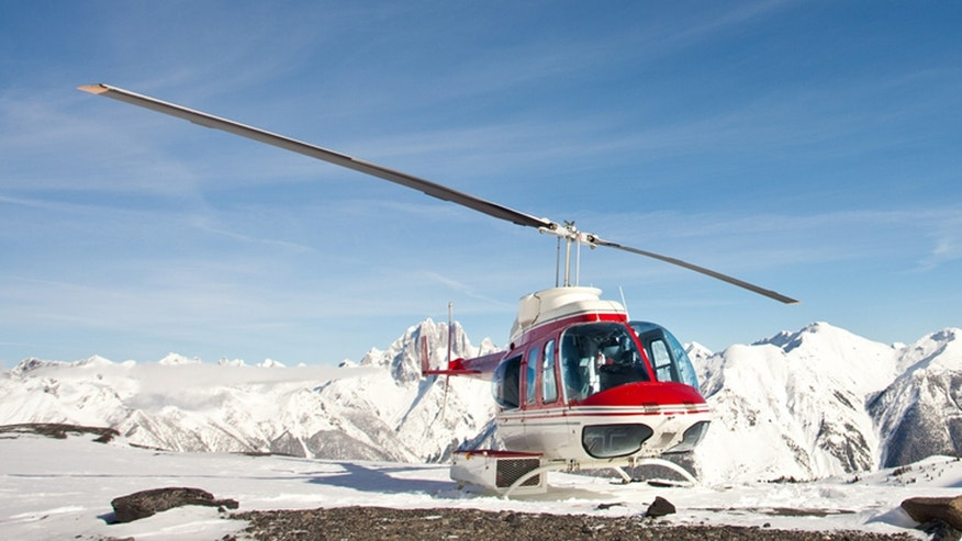 Arrive by chopper and hike through a glacier in Alaska.