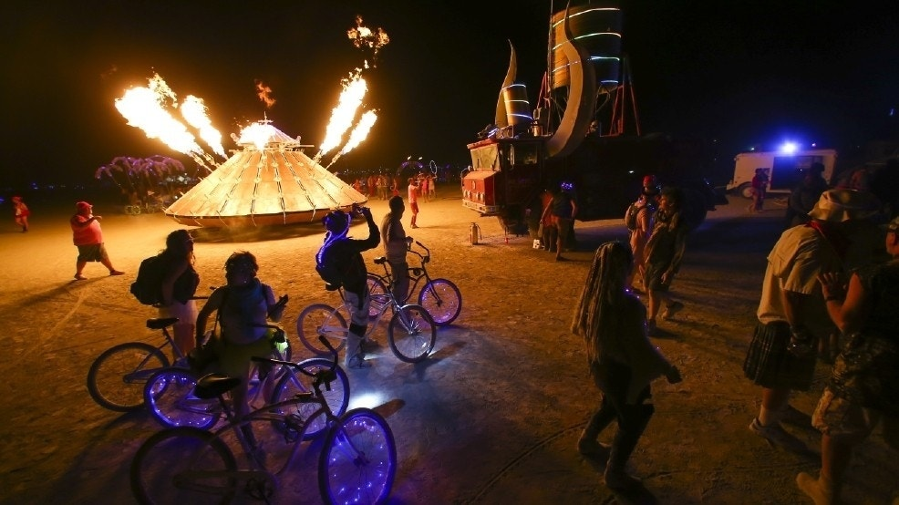 rages amid vandalism claims at Burning Man festival  Fox News
