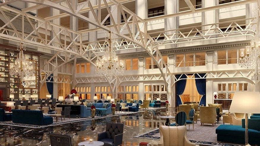 Trump 39 s dc hotel opens monday with sky high room rates for Trump hotel dc decor