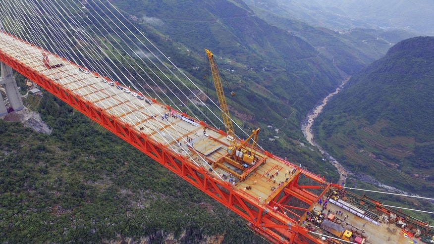 The world's tallest bridge is currently under construction.