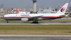 Istanbul, Turkey - May 28, 2014: A Malaysia Airlines Boeing 777-200 with the registration 9M-MRP takes off from Istanbul Atatürk International Airport (IST) in Turkey. This aircraft is the sister airplane of the plane missing in the Indian Ocean with the registration 9M-MRO.