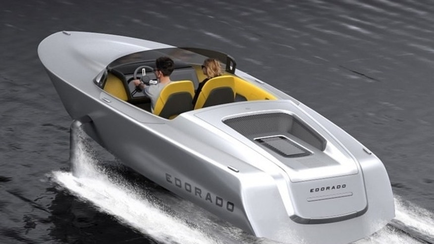 No fuel? No problem. This speedboat can hit speeds of 40 knots without gas.