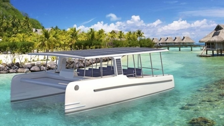 The SoelCat 12 can travel up to six knots entirely off the energy provided by its solar panels.