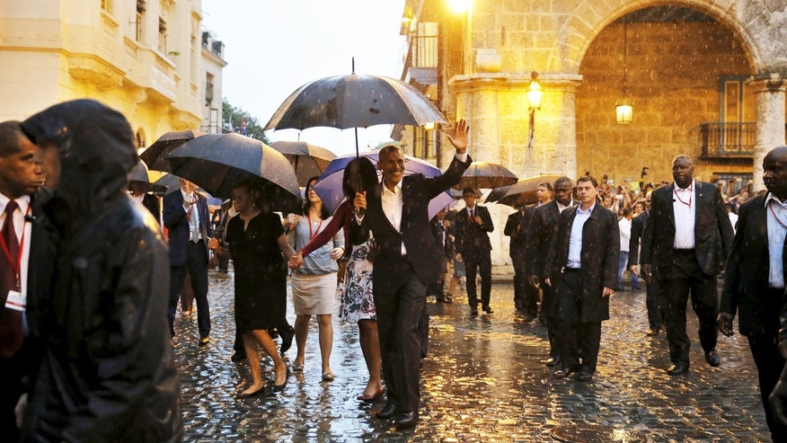President Barack Obama tours Old Havana with his family during a three-day visit to Cuba in March 2016.