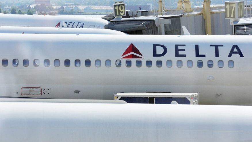 Aug. 8, 2015: Delta Airlines are parked at gates  at Ronald Reagan Washington National Airport in Washington, D.C.