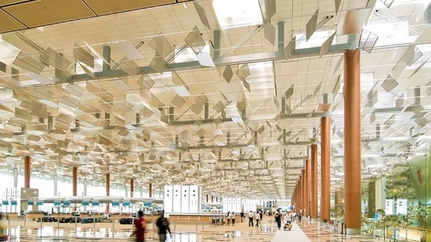 Changi Airport, Departure Hall, Singapore; Shutterstock ID 7099951; Project/Title: World's Coolest Modern Airports; Downloader: Melanie Marin
