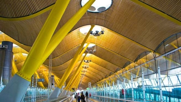 MADRID, SPAIN - FEBRUARY 16: Madrid Barajas airport, main international airport of the capital of Spain of Madrid on February 16, 2013 in Madrid, Spain.; Shutterstock ID 138671297; Project/Title: World's Coolest Modern Airports; Downloader: Melanie Marin