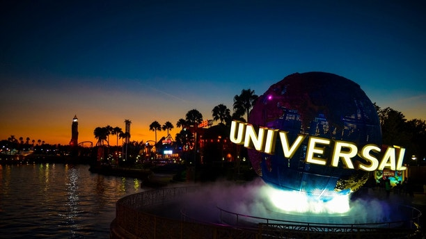 Orlando, FL, United States of America - December 6, 2012: a Sunset at the Universal Studios Resort in Orlando