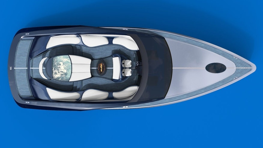 A rendering of the Limited Edition Bugatti Niniette 66 Sport Yacht.