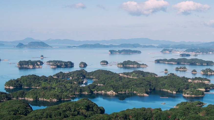 The Kujuku Islands near Sasebo.