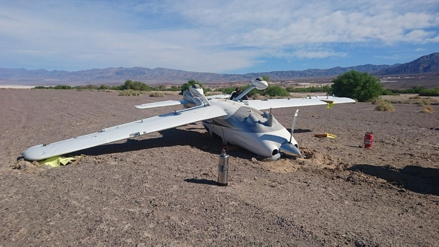 A Cessna pilot flipped over at the Furnace Creek Airport.