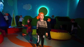 This March 29, 2017 photo shows Ryan Cunningham in the Sensory Room at Shannon Airport in Shannon, Ireland. Shannon is one of several airports offering quiet rooms for travelers on the autism spectrum.  (Diarmuid Greene, True Media/Shannon Airport via AP)