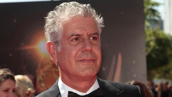 Chef and television personality Anthony Bourdain arrives at the 65th Primetime Creative Arts Emmy Awards in Los Angeles, California September 15, 2013. REUTERS/Jonathan Alcorn (UNITED STATES - Tags: ENTERTAINMENT HEADSHOT) - RTX13MVQ