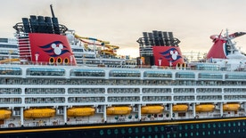 Nassau, Bahamas - January 1, 2015: Disney Wonder cruise ship