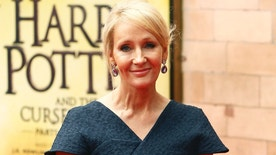 Author J.K. Rowling poses for photographers at a gala performance of the play Harry Potter and the Cursed Child parts One and Two, in London, Britain July 30, 2016. REUTERS/Neil Hall - RTSKD6B