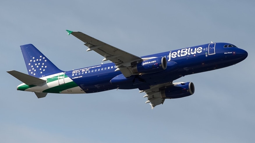 "JetBlue's new Airbus 320, named ""Blue Finest,"" honors the NYPD."