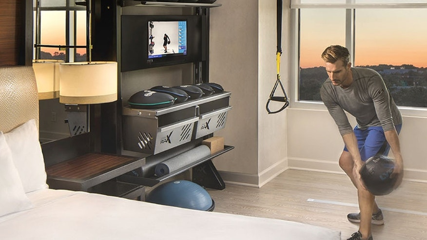 Want to workout on the road hilton brings gym your