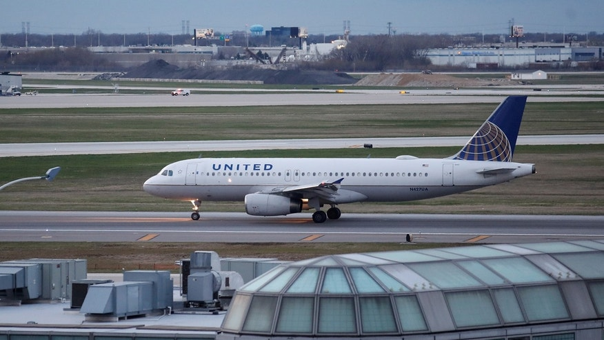 A United Airline Airbus A320 aircraft lands at O'Hare International Airport in Chicago