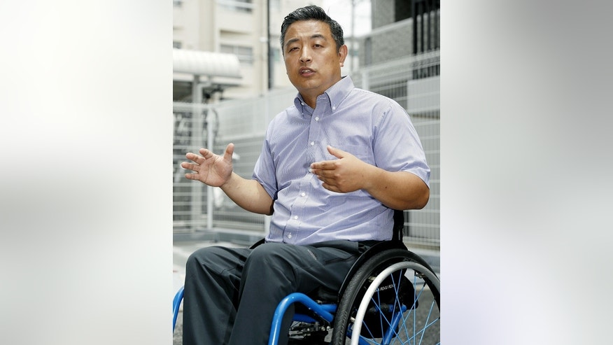 Hideto Kijima, a disabled Japanese man, was forced to hoist himself up a flight of stairs to board his flight on Vanilla Air last month.