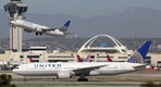 Los Angeles, USA - February 22, 2016: United Airlines airplanes at Los Angeles International Airport (LAX) in the USA. United Airlines is an American airline headquartered in Chicago.