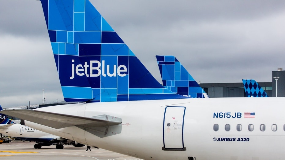 Two JetBlue crew members were taken to the hospital because of an in-cabin odor.