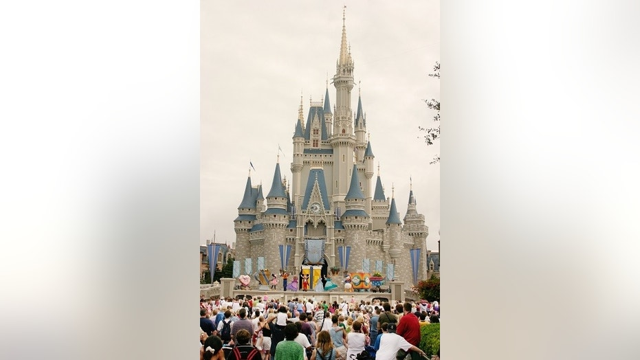 Visitors snap photos of Walt Disney World following Hurricane Irma.