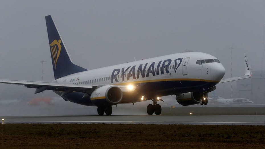An older Ryanair passenger is being hailed as a hero after incapacitating an unruly young man.