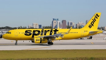 Fort Lauderdale, United States - February 17, 2016: A Spirit Airlines Airbus A320 with the registration N641NK landing at Fort Lauderdale Airport (FLL) in the United States. Spirit Airlines is an American low-cost airline with its headquarters in Fort Lauderdale.