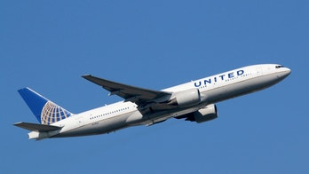 Frankfurt, Germany - September 17, 2014: A United Airlines Boeing 777-200 with the registration N778UA takes off from Frankfurt Airport (FRA) in Germany. United Airlines is headquartered in Chicago, Illinois.