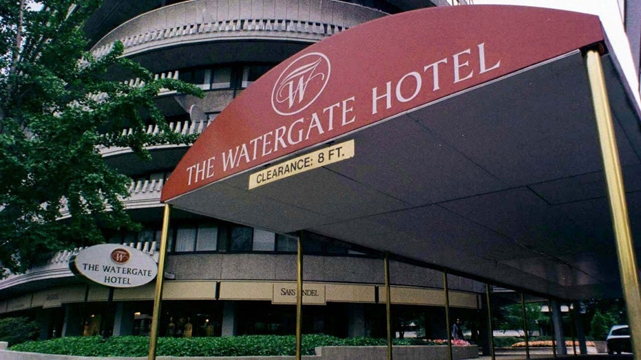 "The Watergate Hotel is embracing its past with a redecorated ""Scandal Room."""