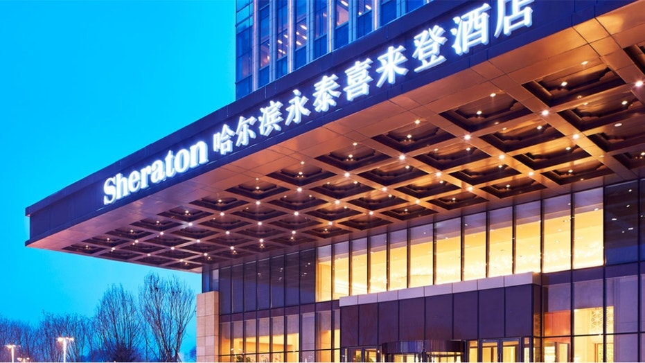 An undercover investigation revealed the cringe-worthy cleaning practices at the Sheraton (above), the Kempinski and the Shangri-La hotels in Harbin.