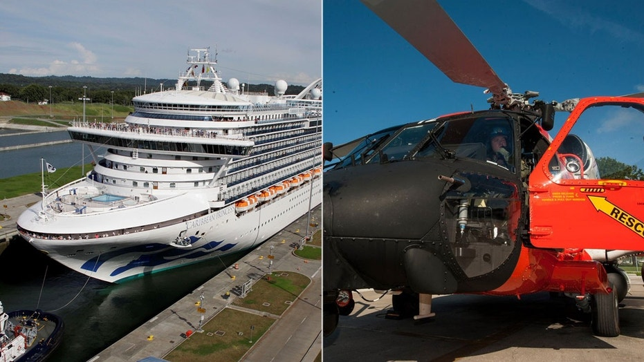 Coast Guard Flies Miles To Rescue Young Caribbean Princess - Cruise ship rescue