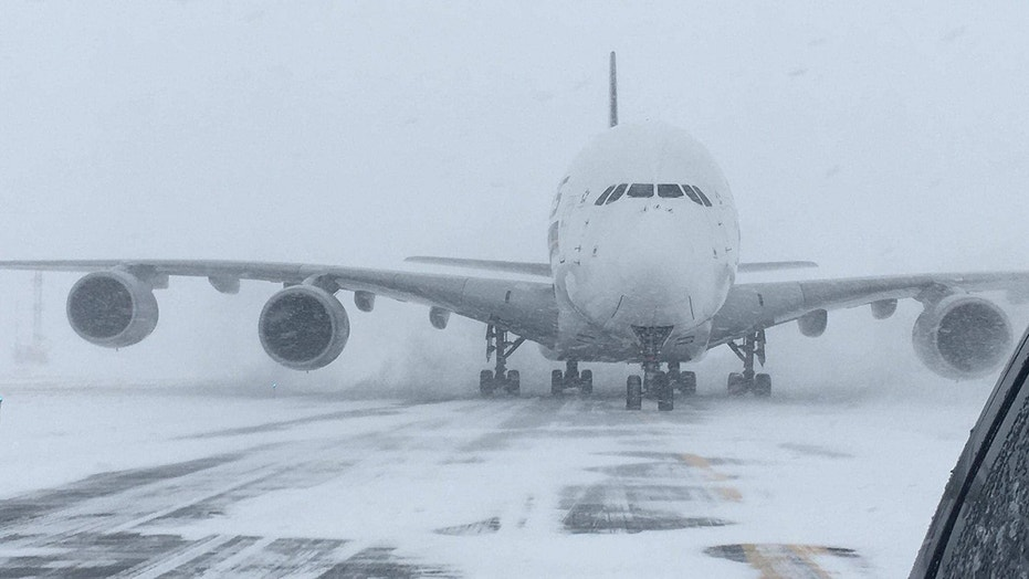 'Bomb cyclone' forces world's largest passenger jet to ...
