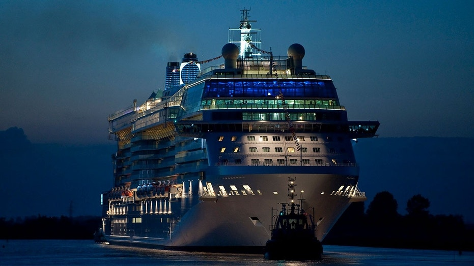 A total of 10 passengers from the Celebrity Equinox (above) and Royal Caribbean International's Navigator of the Seas needed to be rescued last Wednesday.