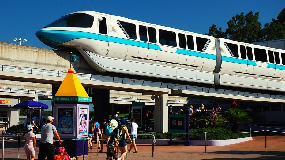 Disney World visitors aboard a monorail were in for a fright over the weekend.
