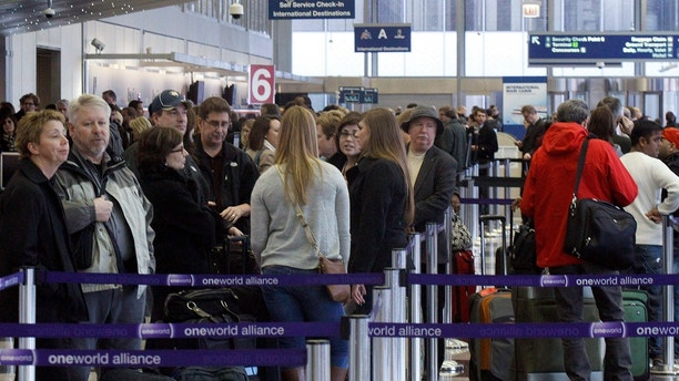 airport line ticket counter reuters