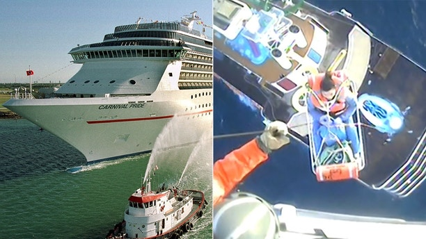 Coast Guard Medevacs Two Carnival Cruise Line Passengers From Same - Cruise ship rescue