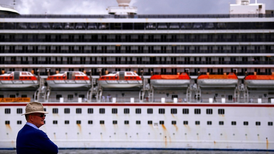 "Carnival Cruise Line confirmed that ""a large family group"" was removed from its Carnival Legend liner (seen above in May 2017) over ""disruptive and violent acts"" they were involved with on Friday morning."