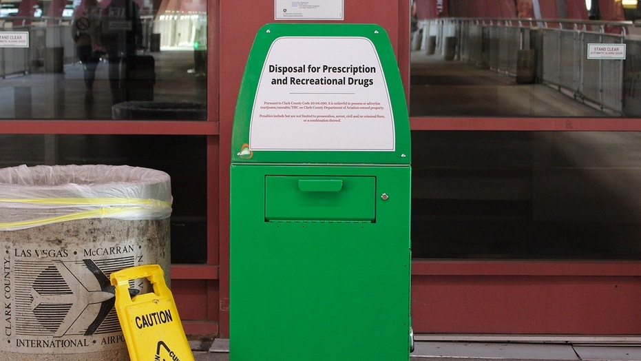 Marijuana disposal boxes pop up at Las Vegas airport