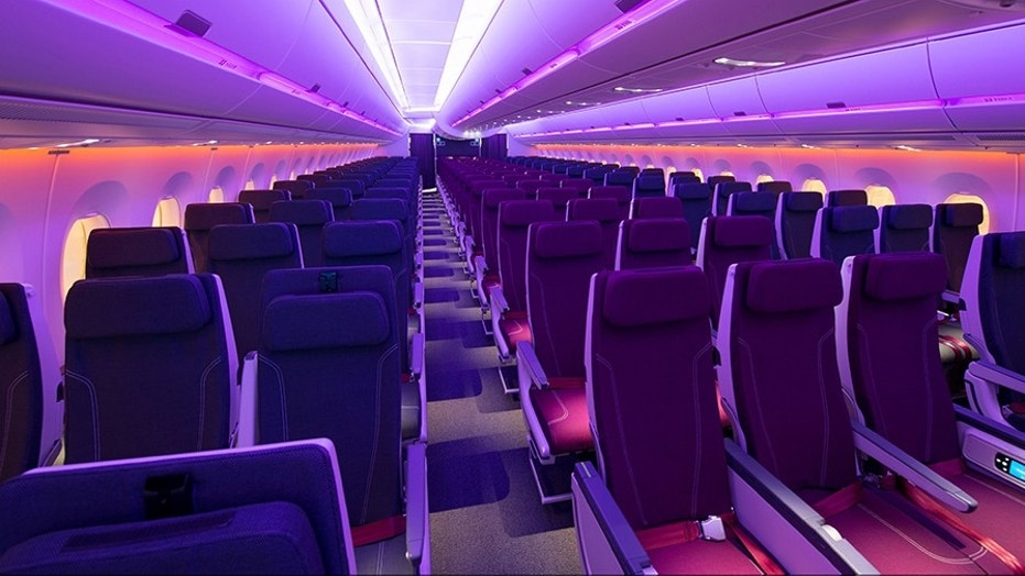 The plane also claims the quietest twin-aisle cabin, larger overhead bins, higher ceilings and window seats where every seat has a window.